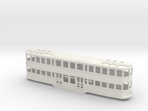 Double Deck trolley PittsBurgh  in White Natural Versatile Plastic