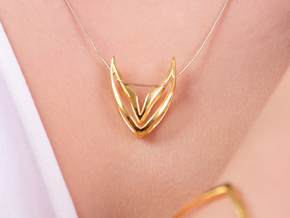 sWINGS Sharp, Pendant. Pure Elegance. in 18k Gold Plated Brass