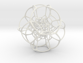 Inverted Truncated Octahedral Lattice in White Premium Strong & Flexible