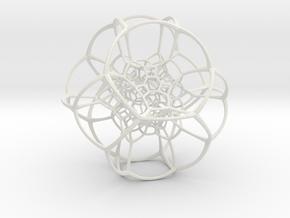 Inverted Truncated Octahedral Lattice in White Premium Versatile Plastic