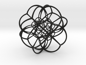 Inverted Rhombic Dodecahedral Lattice in Black Premium Strong & Flexible