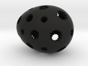 Mosaic Egg #7 in Black Premium Versatile Plastic