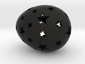 Mosaic Egg #13 in Black Premium Strong & Flexible