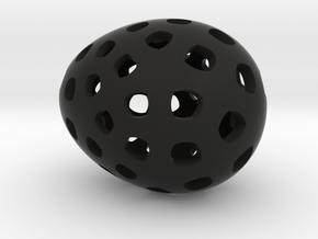 Mosaic Egg #4 in Black Premium Strong & Flexible