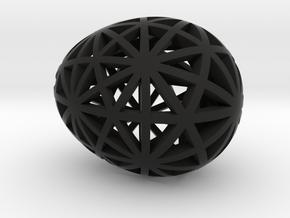 Mosaic Egg #9 in Black Premium Versatile Plastic