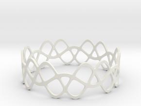 Braided Wave Bracelet (67mm) in White Premium Versatile Plastic