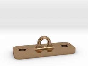 Single Loop Plate in Natural Brass