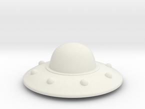 UFO in White Natural Versatile Plastic