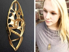 LUX DRACONIS pendant 004 in Natural Brass