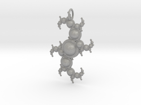 Fractal pendant with spheres in Aluminum