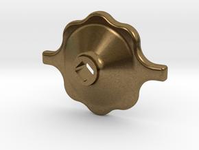 """South African Railways Medium Valve Handwheel 2.5"""" in Natural Bronze"""