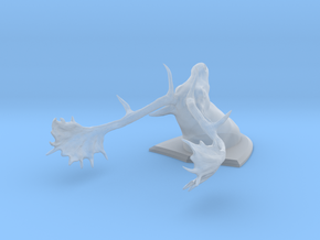 Fallow Deer Head in Smooth Fine Detail Plastic