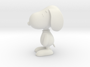 1/24 Snoopy for Diorama in White Natural Versatile Plastic