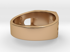 Bitcoin Ring in Polished Bronze: 7 / 54