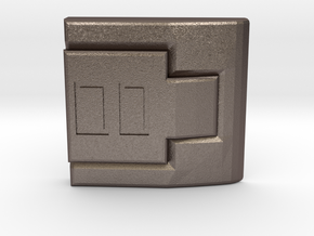 Vault Suit - Square Clip in Polished Bronzed Silver Steel