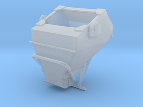 1:87 - 3 Cu yard laydown bucket in Smooth Fine Detail Plastic