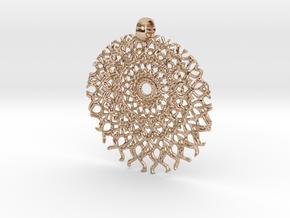 SpFr Medallion in 14k Rose Gold Plated Brass