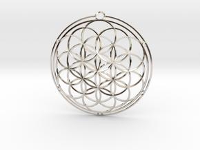 Flower of life in Platinum