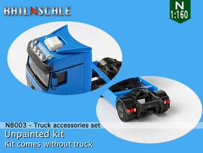 Truck accessories set (N 1:160) in Smoothest Fine Detail Plastic