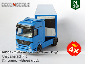 """SET 4x Trailer refrigerator """"Thermo King"""" (N 1:160 in Smoothest Fine Detail Plastic"""