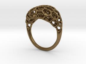 Ring Voronoi Volume II in Natural Bronze