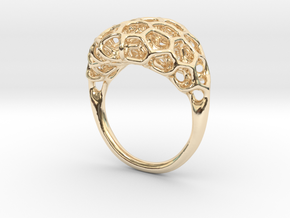 Ring Voronoi Volume II in 14K Yellow Gold