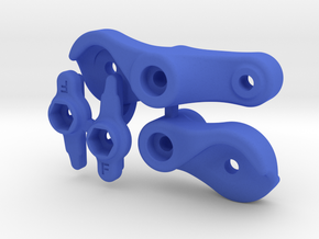 Vaterra Twin Hammers / GCM Plate Bell Crank Kit in Blue Strong & Flexible Polished