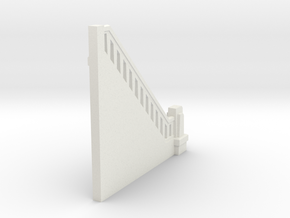 Triple Underpass NW Wing End in White Natural Versatile Plastic