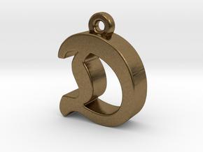 D2 - Pendant - 3mm thk. in Natural Bronze