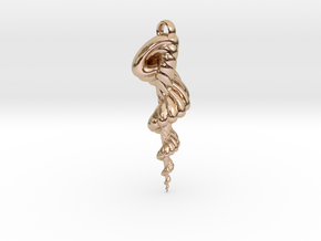 TF Shell Pendant II in 14k Rose Gold Plated Brass