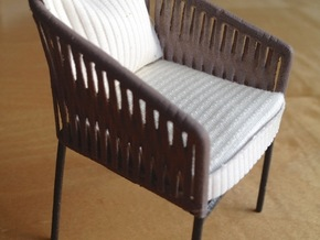 1:12 Chair Braided in White Strong & Flexible Polished