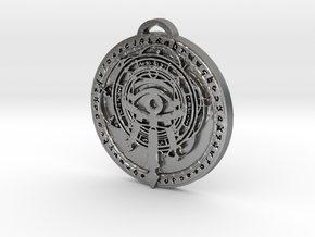 Mage Class/Spec Medallion (Large: 5cm x 6mm) in Natural Silver