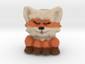 Foxy-Greggy Figurine in Full Color Sandstone