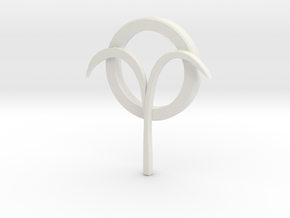 Jancarus Logo in White Natural Versatile Plastic: Extra Small