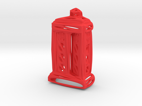 Voronoi Tardis (half) in Red Strong & Flexible Polished