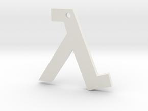 Half Life pendant in White Premium Versatile Plastic