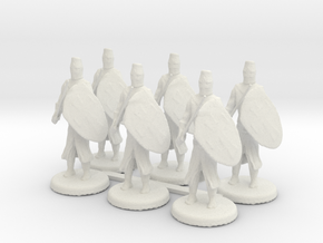 Templar Knights in White Natural Versatile Plastic
