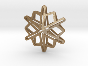 Snowflake No 1 in Matte Gold Steel