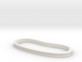Trench Palm Cuff in White Natural Versatile Plastic: Medium