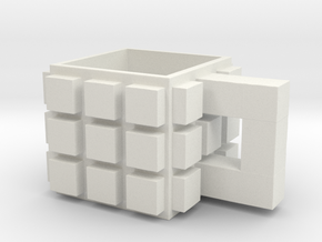 CupCube2 in White Natural Versatile Plastic: Medium