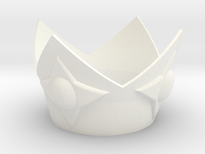 Star Princess Crown in White Processed Versatile Plastic