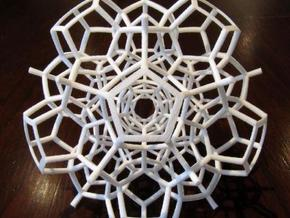 Half of a 120-Cell in White Natural Versatile Plastic