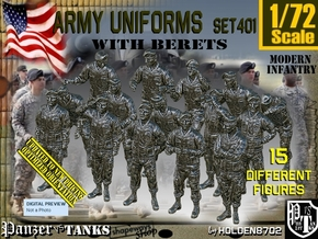 1/72 Modern Uniforms Beret Set401 in Smooth Fine Detail Plastic
