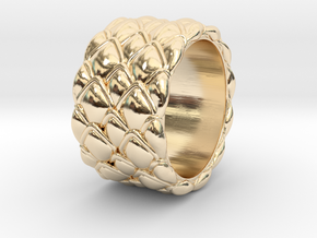 Dragon Scales 18.6 mm in 14K Yellow Gold