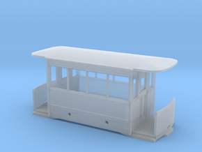 5.5mm Corris Tram Carriage Body in Smooth Fine Detail Plastic