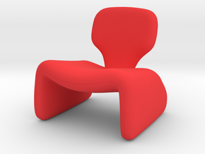 Oliver Mourgue Djinn Chair in Red Strong & Flexible Polished