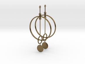 Interlinked Rings Earrings in Polished Bronze (Interlocking Parts)