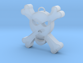 Skull Decoration in Smooth Fine Detail Plastic