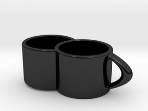2joinCup B in Gloss Black Porcelain: Medium