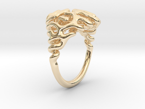 Reaction Diffusion Ring  in 14K Yellow Gold